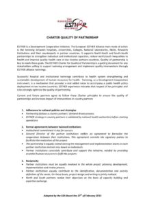 thumbnail of Charter Quality of Partnership