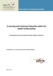 thumbnail of EEA FINAL REPORT_E-Learning within the health facility setting 2013